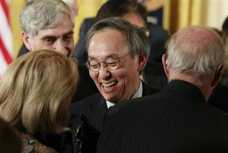 Outgoing U.S. Energy Secretary Steven Chu is pictured in the audience during a science and technical innovation award ceremony in the East Room of the White House in Washington, February 1, 2013. REUTERS/Jason Reed