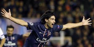 """Javier Pastore va mieux, beaucoup mieux depuis plusieurs semaines et cela tombe bien pour le Paris Saint-Germain, à deux jours du """"clasico"""" à la française contre l'OM. /Photo prise le 12 février 2013/REUTERS/Heino Kalis"""