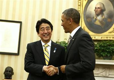 Abe: Japan acting calmly in island dispute with China