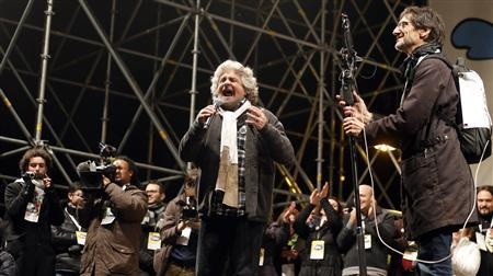 Huge Grillo rally rounds off Italy election campaign
