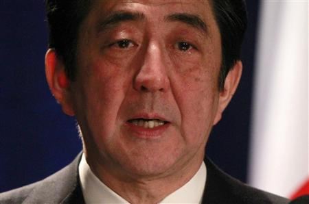 Japan's Prime Minister Shinzo Abe participates in a media conference at a Washington hotel, February 22, 2013. REUTERS/Jason Reed
