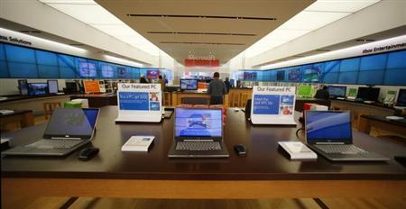 The interior of a Microsoft retail store is shown in San Diego January 18, 2012. REUTERS/Mike Blake/Files