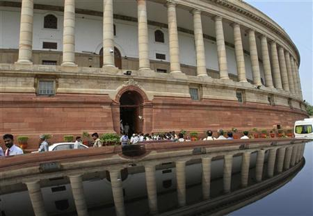 A view of the parliament building is seen on the opening day of the monsoon session in New Delhi August 1, 2011. REUTERS/B Mathur/Files