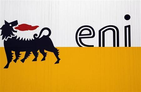 The logo of oil company Eni is pictured at San Donato Milanese near Milan February 5, 2013. REUTERS/Stefano Rellandini