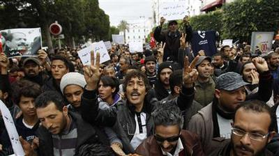Tunisian secularists protest against new Islamist PM