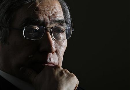 Asian Development Bank President Haruhiko Kuroda attends a group interview in Tokyo February 11, 2013. REUTERS/Toru Hanai