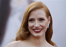 "Jessica Chastain, actress in a leading role nominee for the film ""Zero Dark Thirty"" arrives at the 85th Academy Awards in Hollywood, California February 24, 2013. REUTERS/Lucas Jackson"