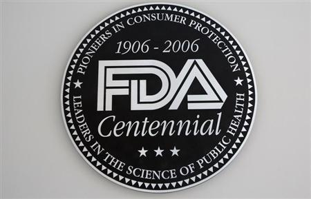 A view shows the U.S. Food and Drug Administration (FDA) logo at the lobby of its headquarters in Silver Spring, Maryland August 14, 2012. REUTERS/Jason Reed