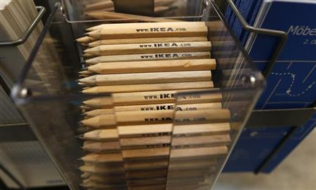 Pencils are photographed in IKEA shop in Taufkirchen near Munich January 22, 2013. REUTERS/Michael Dalder (GERMANY - Tags: BUSINESS)