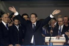 Il nuovo presidente di Cipro Nicos Anastasiades. REUTERS/Yorgos Karahalis