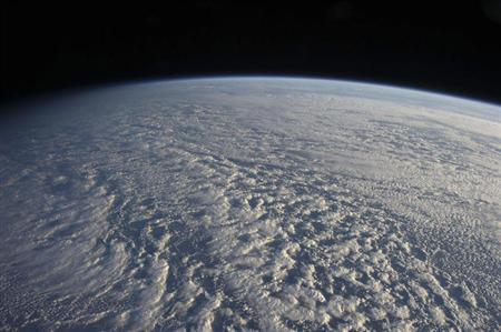A NASA handout shows a large presence of stratocumulus clouds photographed by the Expedition 34 crew members aboard the International Space Station above the northwestern Pacific Ocean about 460 miles east of northern Honshu, Japan on January 4, 2013 and released Janaury 14, 2013. REUTERS/NASA/Handout