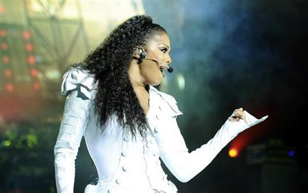 U.S. singer Janet Jackson performs on stage during her ''Number Ones - Up Close and Personal'' tour at the Royal Albert Hall in London June 30, 2011. REUTERS/Dylan Martinez