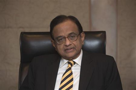 India's Finance Minister Palaniappan Chidambaram attends a news conference in Hong Kong January 22, 2012. REUTERS/Tyrone Siu
