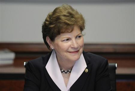 U.S. Senator Jeanne Shaheen (D-NH) takes her seat for the Reuters Washington Summit in Washington June 26, 2012. REUTERS/Jonathan Ernst