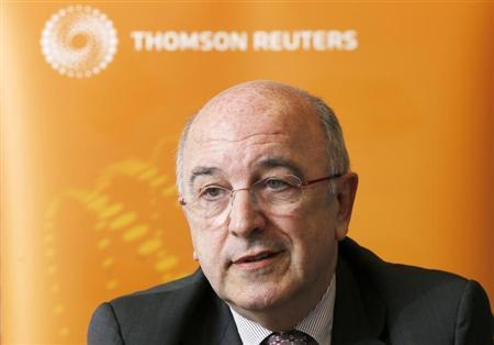 European Union Competition Commissioner Joaquin Almunia answers reporters' questions during the Reuters Future of the Euro Zone Summit in Brussels February 26, 2013. REUTERS/Francois Lenoir