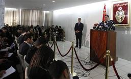 Tunisia's Prime Minister-designate Ali Larayedh speaks during a news conference in Tunis February 26, 2013. REUTERS/Zoubeir Souissi