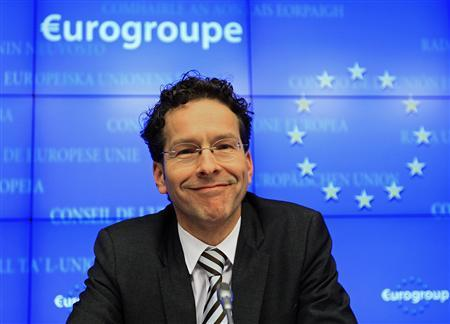 Netherlands' Finance Minister Jeroen Dijsselbloem holds his first news conference after being appointed new Eurogroup Chairman during a euro zone finance ministers' meeting in Brussels January 21, 2013. Dijsselbloem, a first-time minister previously best known as a specialist on agriculture and education, succeeded the long-serving Jean-Claude Juncker as head of the Eurogroup of finance ministers. REUTERS/Yves Herman (BELGIUM - Tags: POLITICS BUSINESS) - RTR3CRRL