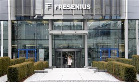The headquarters of Fresenius is pictured in Bad Homburg near Frankfurt February 24, 2010. REUTERS/Johannes Eisele (