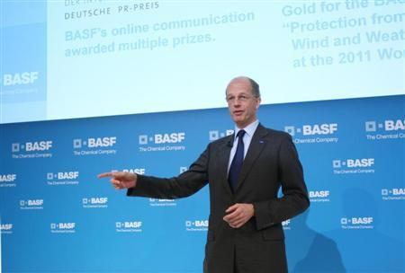 Kurt Bock, CEO of German chemical company BASF, arrives for the annual news conference in Ludwigshafen February 24, 2012. REUTERS/Alex Domanski