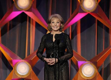 Barbara Walters speaks on stage at the 39th Daytime Emmy Awards in Beverly Hills, California June 23, 2012. REUTERS/Mario Anzuoni (