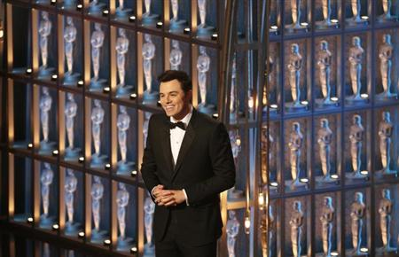 Oscar host Seth MacFarlane speaks on stage at the 85th Academy Awards in Hollywood, California, February 24, 2013. REUTERS/Mario Anzuoni