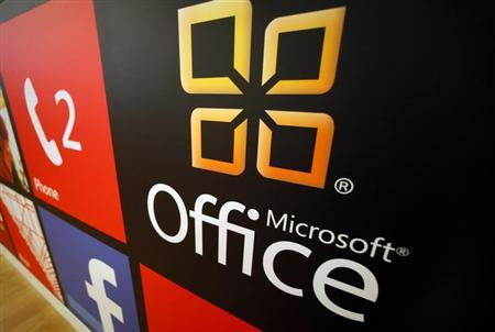 A Microsoft Office logo is shown on display at a Microsoft retail store in San Diego January 18, 2012. REUTERS/Mike Blake/Files