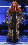 "Singer Wynonna Judd performs during the taping of the 2008 ""NCLR Alma"" awards at the Civic Auditorium in Pasadena, California, August 17, 2008. REUTERS/Mario Anzuoni"