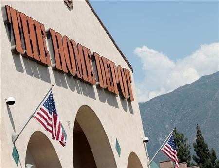 A sign outside The Home Depot store is pictured in Monrovia, California August 13, 2012. REUTERS/Mario Anzuoni