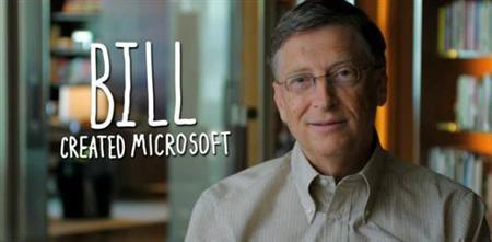 Bill Gates in a still from a new video released online Tuesday to promote computer programming. The video also features Mark Zuckerberg and Jack Dorsey. REUTERS/Courtesy Code.org