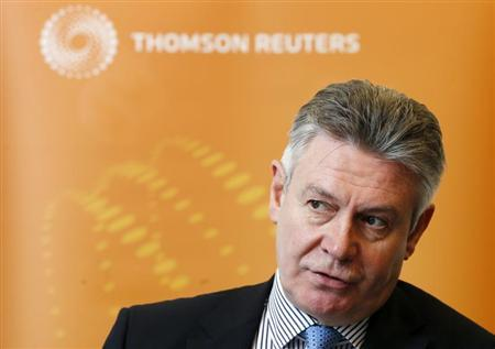 European Union Trade Commissioner Karel De Gucht answers reporters' questions during the Reuters Future of the Euro Zone Summit in Brussels February 27, 2013. REUTERS/Francois Lenoir