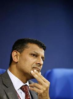Chief economic adviser Raghuram Rajan pauses during a news conference in New Delhi February 27, 2013. REUTERS/Adnan Abidi