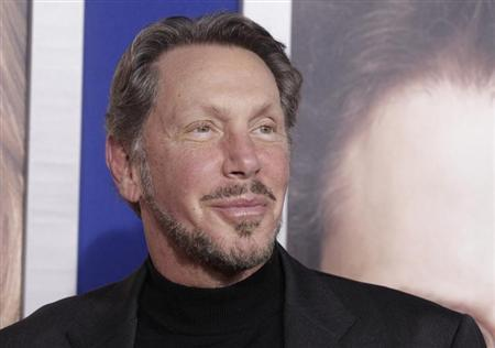 Larry Ellison, co-founder and CEO of Oracle Corporation, arrives at the premiere of ''The Guilt Trip'' starring Barbra Streisand and Seth Rogen in Los Angeles in this file photo taken December 11, 2012. REUTERS/Fred Prouser