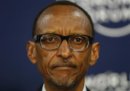 Rwanda President Paul Kagame attends the annual meeting of the World Economic Forum (WEF) in Davos January 23, 2013. REUTERS/Pascal Lauener