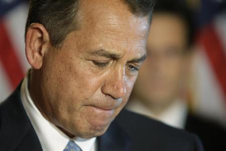 U.S. House Speaker John Boehner (R-OH) pauses during remarks at a news conference at the U.S. Capitol in Washington, February 25, 2013. REUTERS/Jonathan Ernst