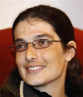 Swiss teacher Sylvia Abrahat, who was kidnapped in Yemen, arrives at Doha International Airport in Doha after she was freed February 28, 2013. REUTERS/Mohammed Dabbous