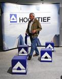 A shareholder is pictured during the annual meeting of Hochtief AG in Essen May 12, 2011. REUTERS/Ina Fassbender