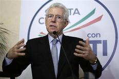 Il premier uscente Mario Monti. REUTERS/Max Rossi