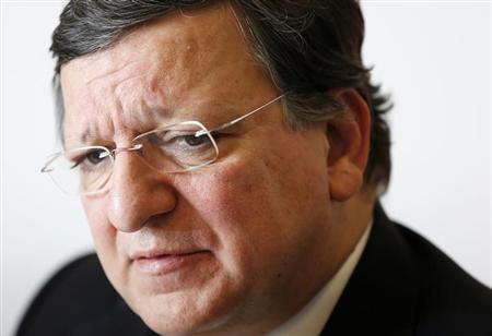 European Union Commission President Jose Manuel Barroso answers reporters' questions during the Reuters Future of the Euro Zone Summit in Brussels February 26, 2013. REUTERS/Francois Lenoir