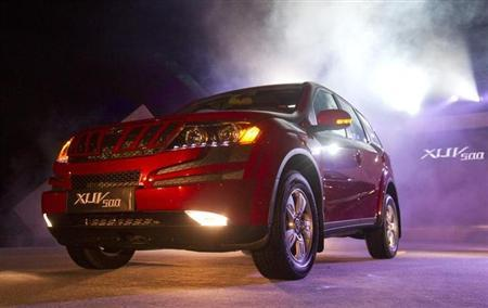 Mahindra & Mahindra's new SUV vehicle XUV 500 is pictured during its launch in Pune September 28, 2011. REUTERS/Vivek Prakash/Files