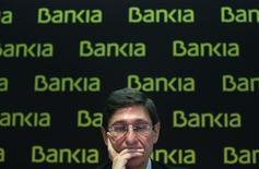 Le président de Bankia, José Ignacio Goirigolzarri. La banque espagnole, issue de la fusion en 2010 de sept caisses d'épargne très largement exposées à l'éclatement de la bulle immobilière en 2008, a enregistré en 2012 une perte nette de 19,2 milliards d'euros. /Photo prise le 28 février 2013/REUTERS/Juan Medina