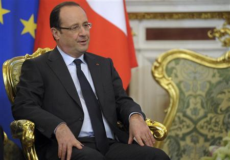France's President Francois Hollande listens during talks with Russia's President Vladimir Putin in Moscow's Kremlin February 28, 2013. REUTERS/Alexsey Druginyn/RIA Novosti/Pool