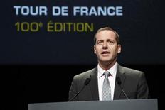 La Agencia Francesa Antidopaje (AFLD) ha accedido a llevar a cabo los análisis del Tour de Francia en junio. En la imagen, el director del Tour de Francia, Christian Prudhomme, presenta el itinerario de la ronda gala el 24 de octubre de 2012 en París. REUTERS/Benoit Tessier