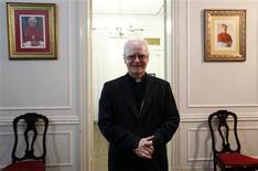 El cardenal brasileño Odilo Scherer en Sao Paulo, feb 19 2013. El cardenal brasileño Odilo Scherer voló esta semana a Roma para el cónclave que elegirá al sucesor del Papa Benedicto XVI. Y sus fieles rezan para que no regrese. REUTERS/Nacho Doce