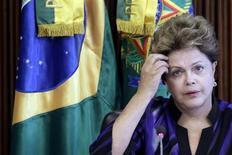 Presidente Dilma Rousseff é vista durante reunião do reunião no Palácio do Planalto, em Brasília. 06/02/2013 REUTERS/Ueslei Marcelino