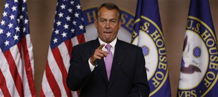 Speaker of the House John Boehner speaks at a news conference on Capitol Hill in Washington February 28, 2013. REUTERS/Larry Downing