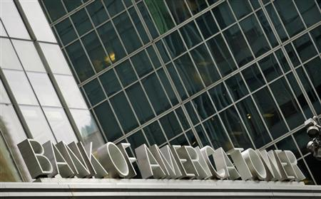 A view of the Bank of America's Tower in New York October 24, 2012. REUTERS/Eduardo Munoz