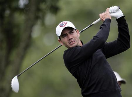 Camilo Villegas of Colombia tees off on the 5th tee during the second round of the Memorial Tournament at Muirfield Village Golf Club in Dublin, Ohio in this file photo taken June 1, 2012. REUTERS/John Sommers II