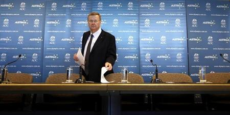 Australia's Olympic chief John Coates prepares for a news conference in Sydney August 8, 2007. REUTERS/Tim Wimborne/Files