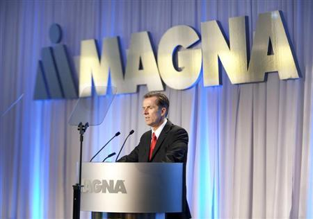 Magna International Inc. CEO Donald Walker speaks to shareholders at the company's annual general meeting in Toronto May 10, 2012. REUTERS/Fred Thornhill