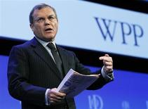 Chief Executive of WPP Group, Martin Sorrell, speaks at the Institute of Directors IOD annual convention at the Albert Hall in London April 28, 2010. REUTERS/Luke MacGregor
